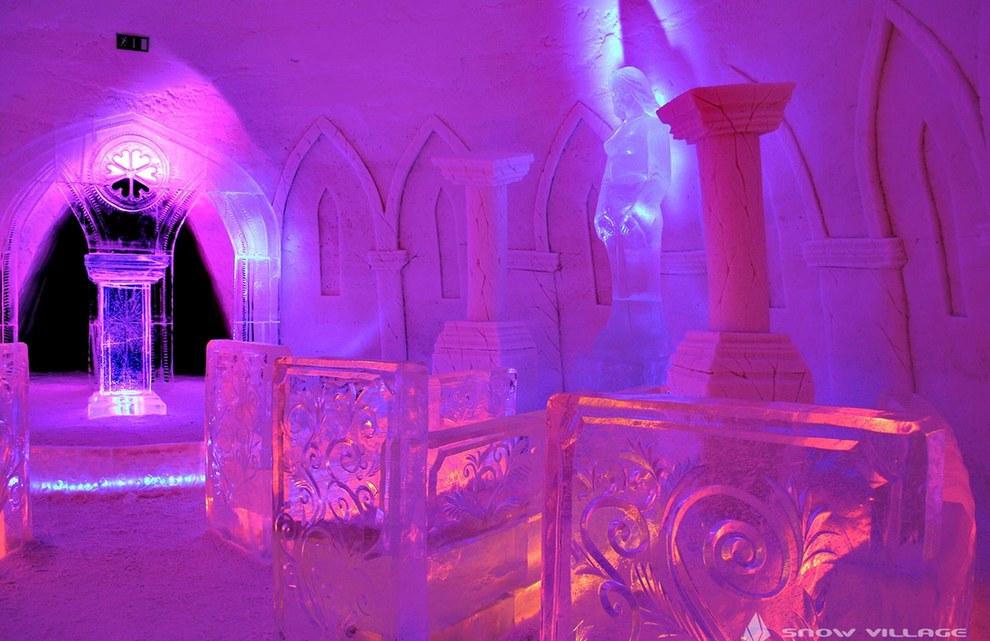 The SnowVillage Snow Hotel โรงแรมน้ำแข็ง3